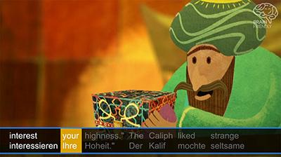 Kalif, der sich in einen Storch verwandelt